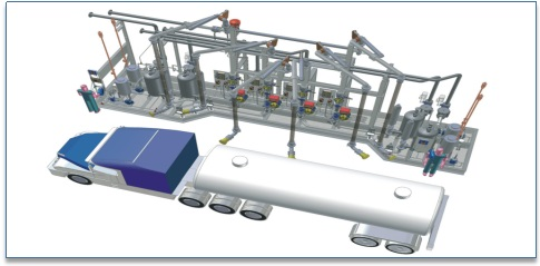 Loading /unloading system for oil tank truck/railcar